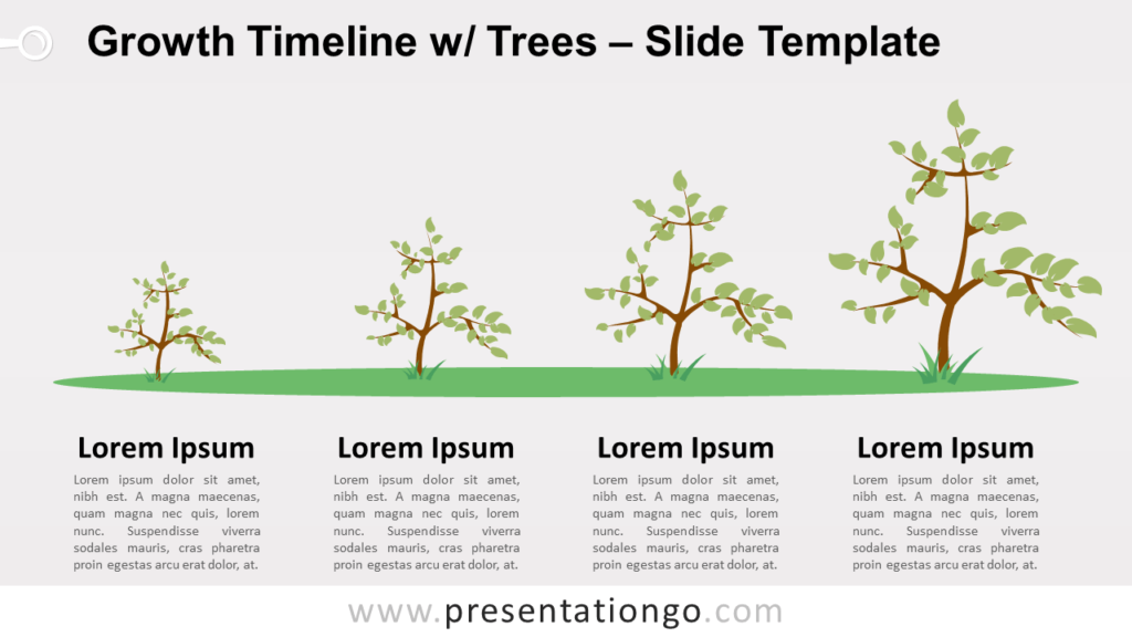 Free Growth Timeline with Trees for PowerPoint and Google Slides