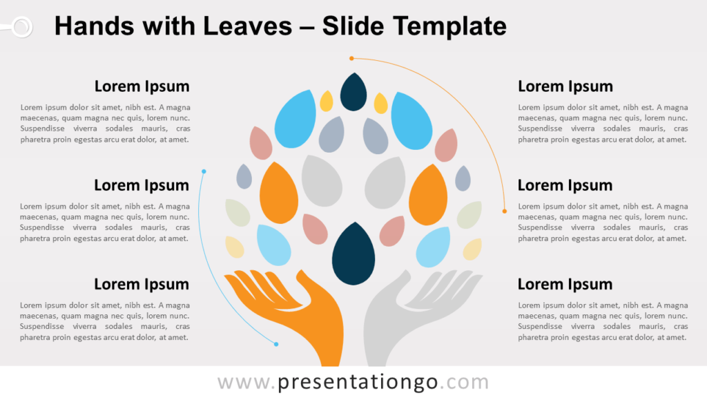 Free Hands and Leaves for PowerPoint and Google Slides
