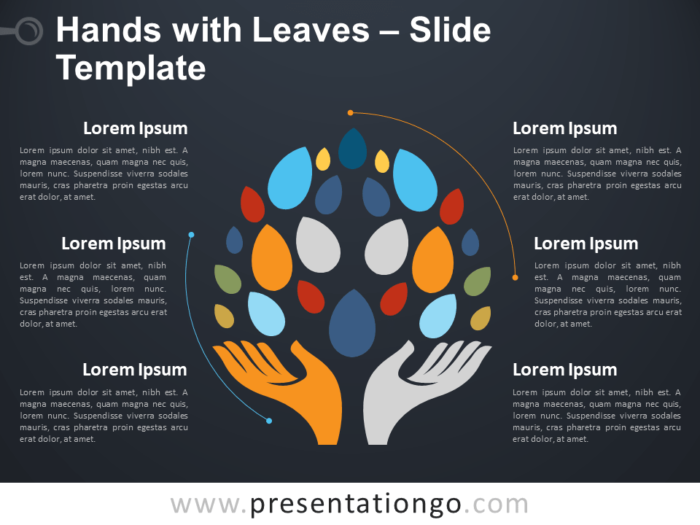 Free Hands and Leaves Template
