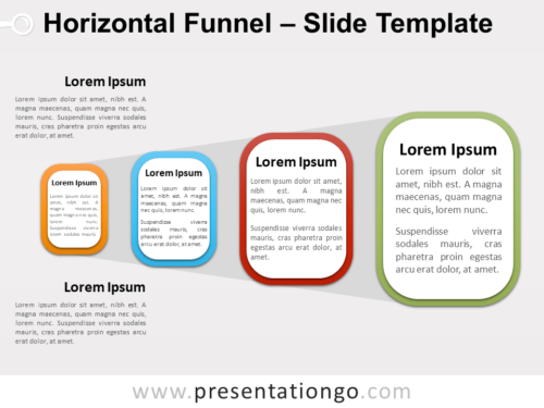 Free Horizontal Funnel PowerPoint Template