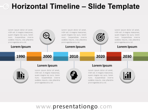 Free Horizontal Timeline PowerPoint Template