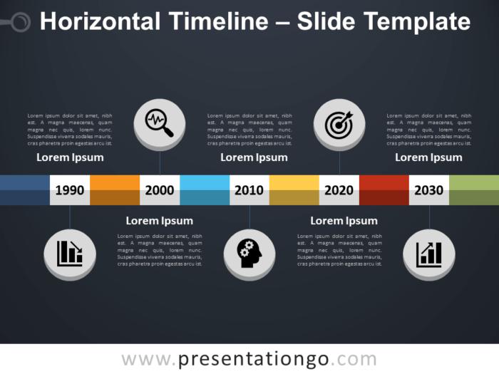 Free Horizontal Timeline PowerPoint Template Slide