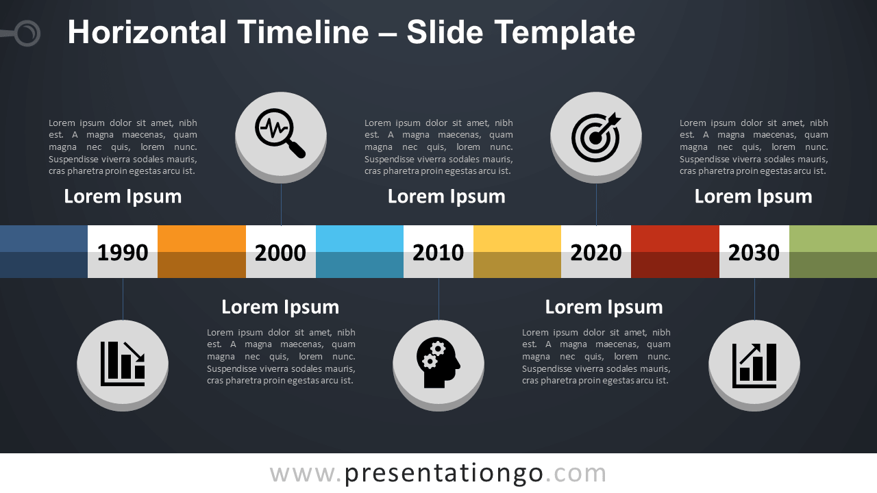 Free Horizontal Timeline for PowerPoint