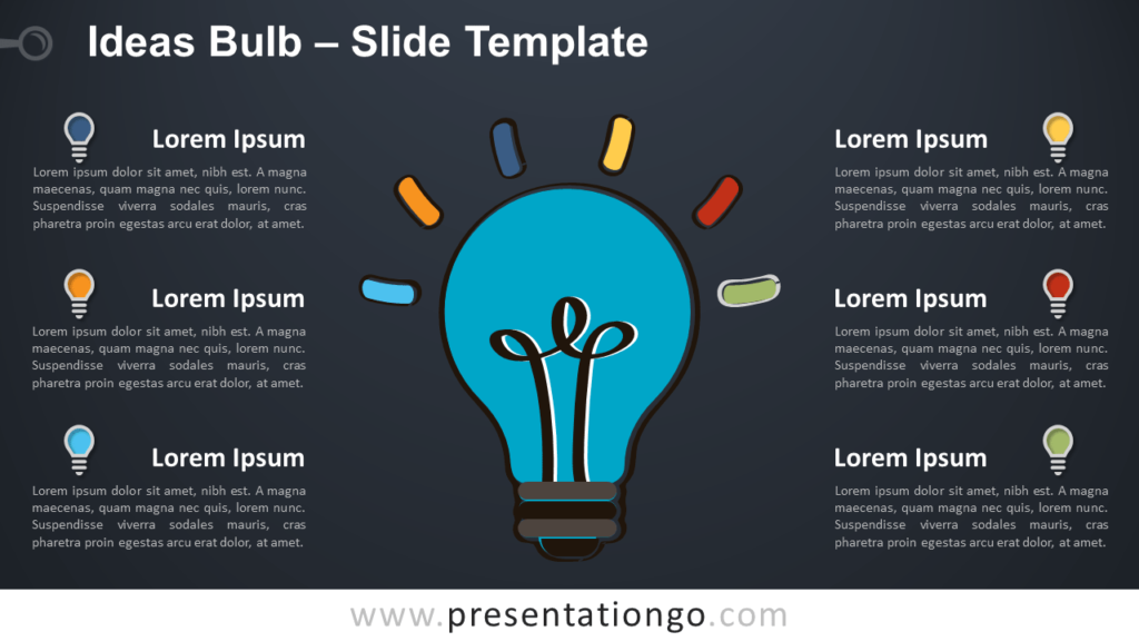 Free Ideas Bulb for PowerPoint