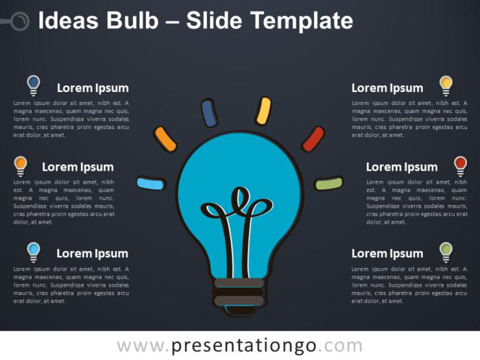 Free Ideas Bulb Template