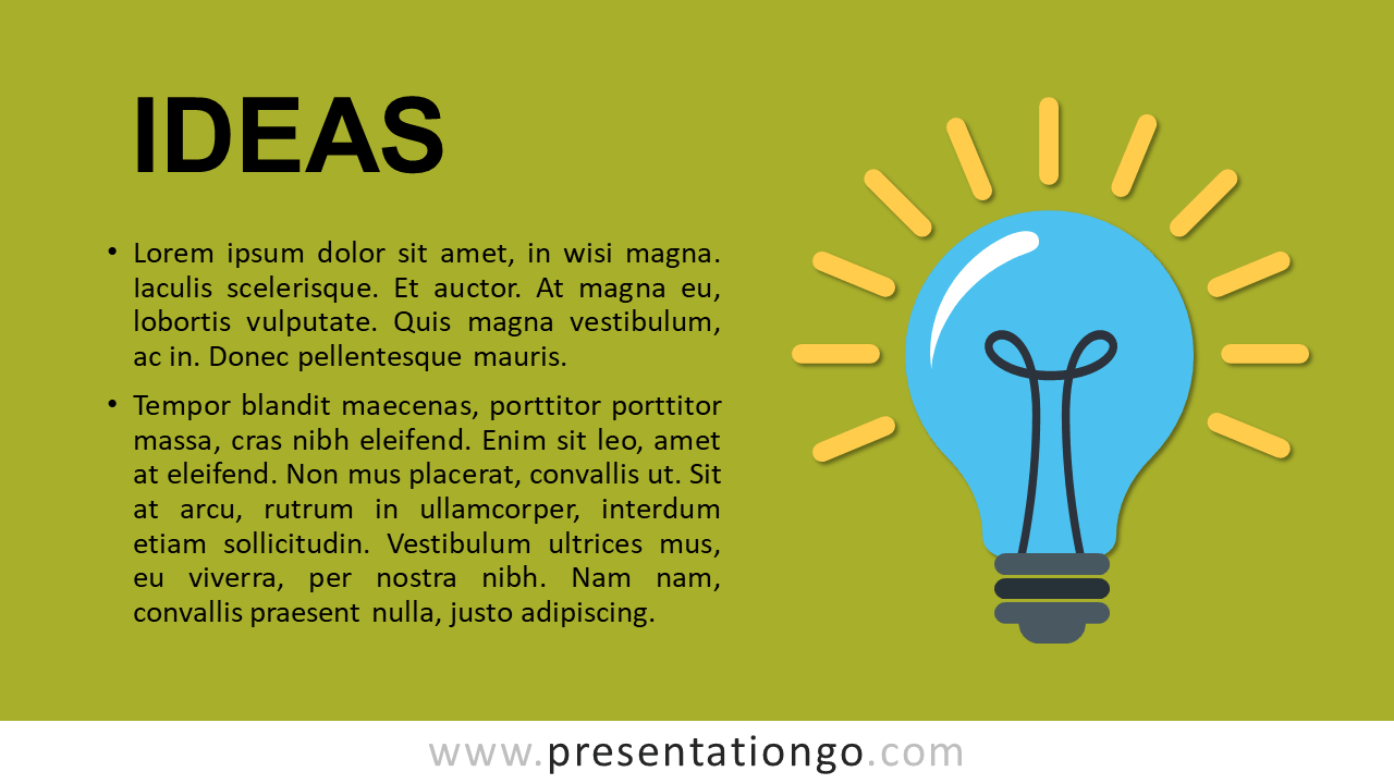 Ideas - Metaphor Template for PowerPoint and Google Slides