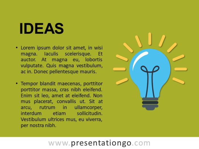 Ideas - Metaphor Template Slide