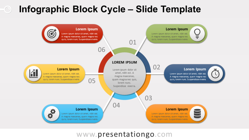 Free Infographic Block Cycle for PowerPoint and Google Slides