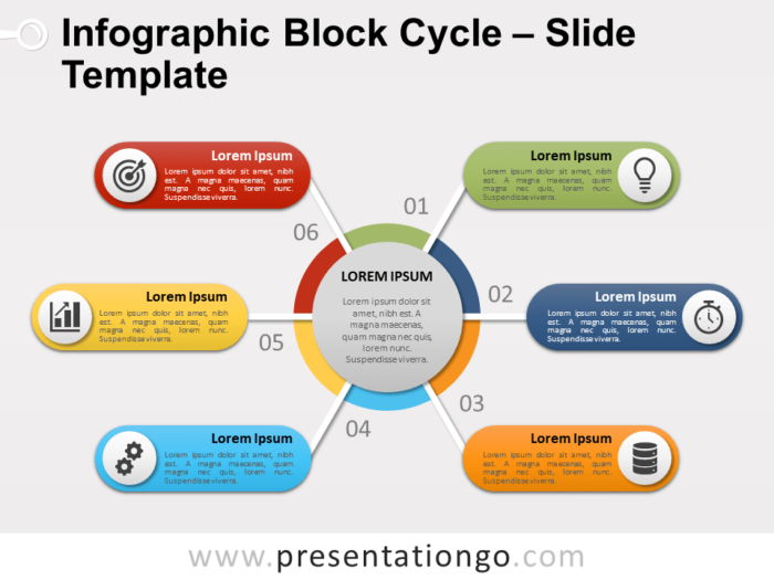 Free Infographic Block Cycle PowerPoint Template