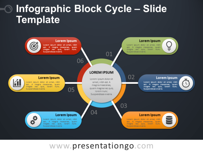 Free Infographic Block Cycle PowerPoint Template Slide
