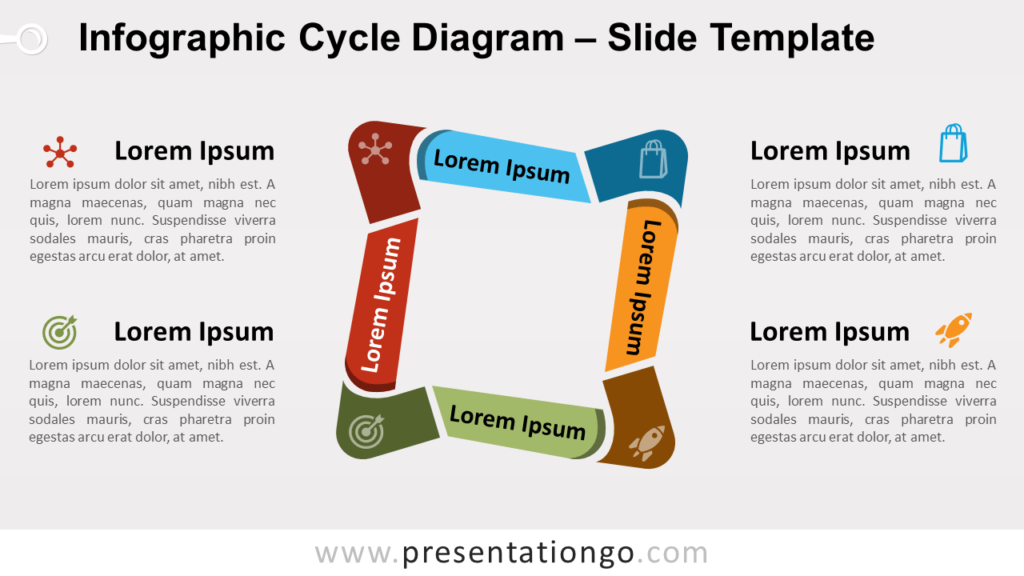 Free Infographic Cycle Diagram for PowerPoint and Google Slides