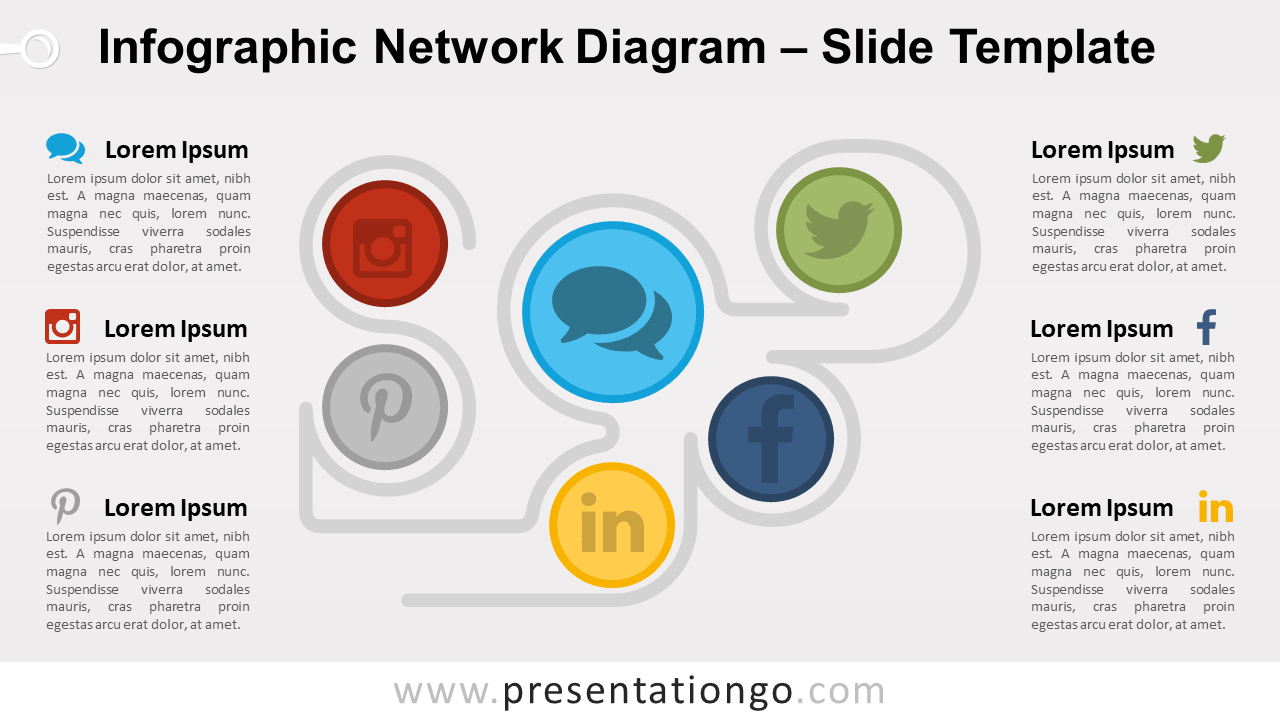 Free Infographic Network Diagram for PowerPoint and Google Slides