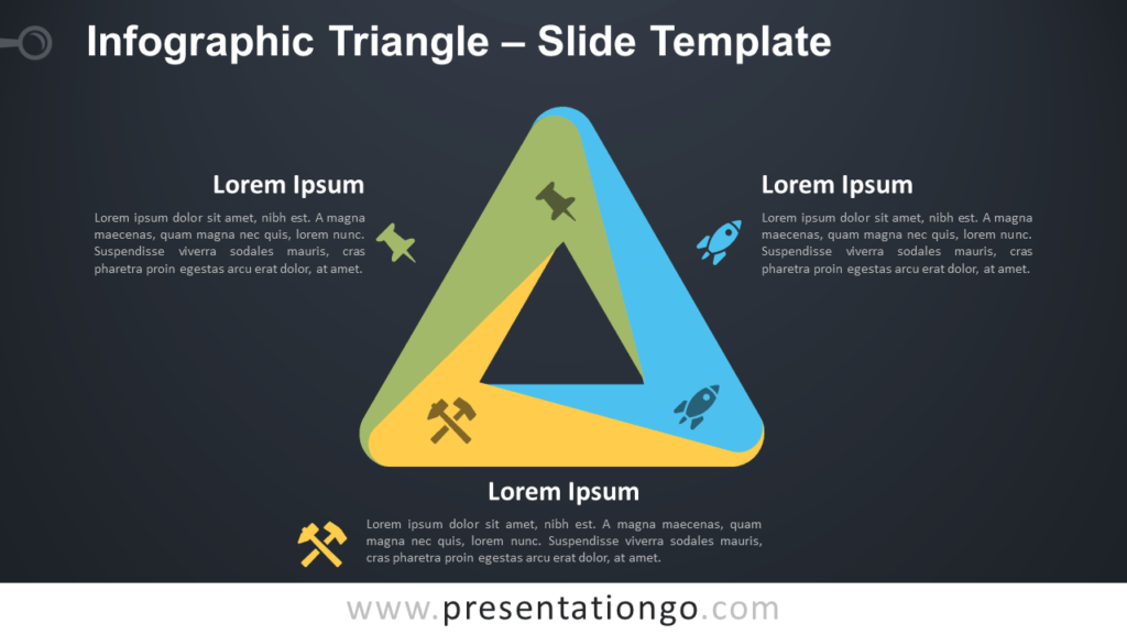 Free Infographic (Penrose) Triangle for PowerPoint