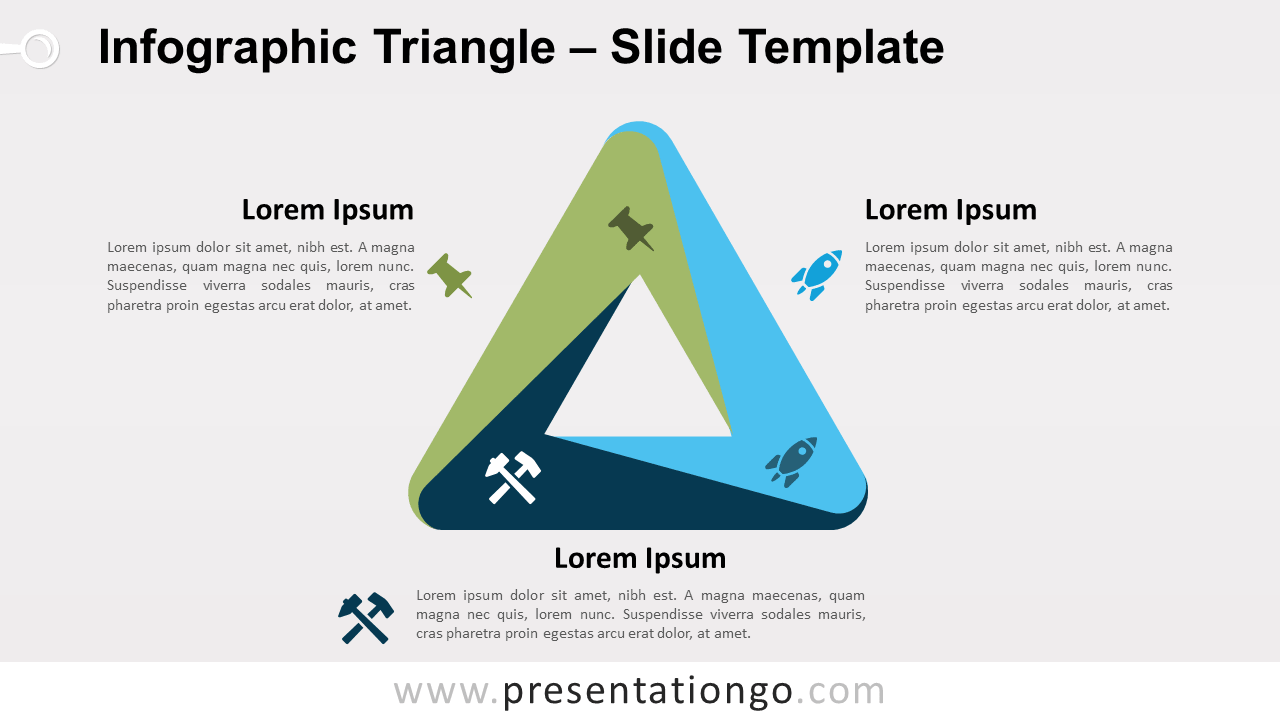 Free Infographic (Penrose) Triangle for PowerPoint and Google Slides