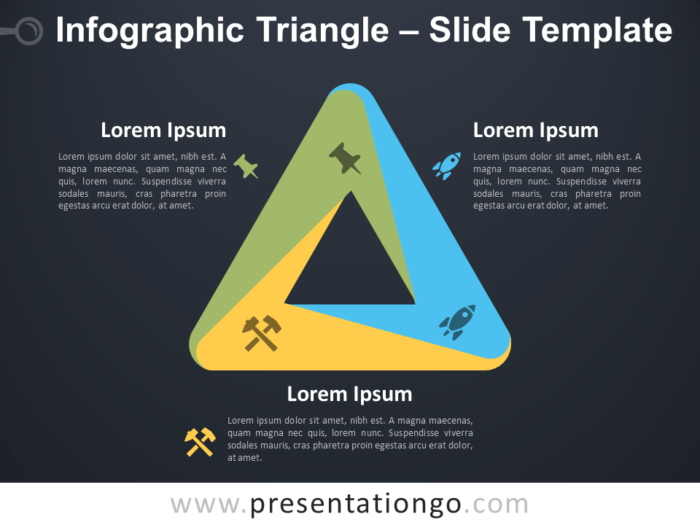Free Infographic (Penrose) Triangle PowerPoint Template Slide