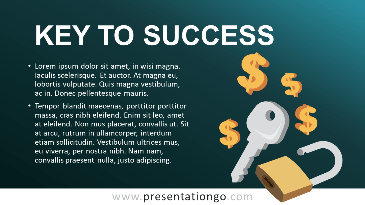 Free Key to Success - Metaphor Template for PowerPoint and Google Slides