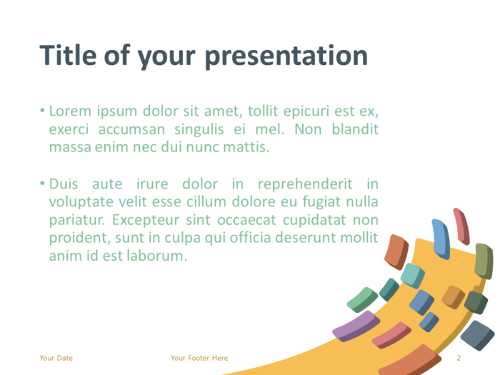 Free Modern Abstract Template for PowerPoint - Slide 2