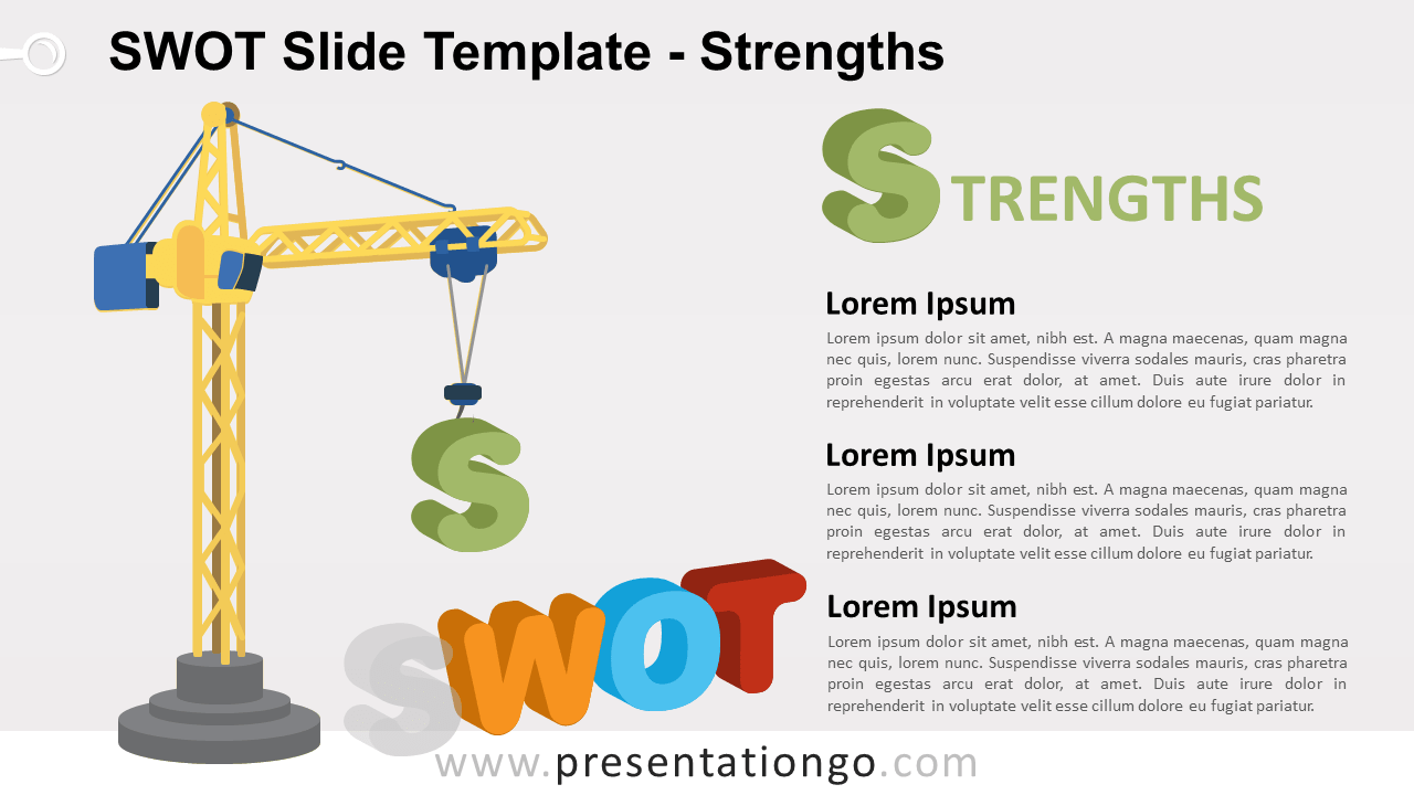 STRENGTHS - SWOT Analysis for PowerPoint and Google Slides