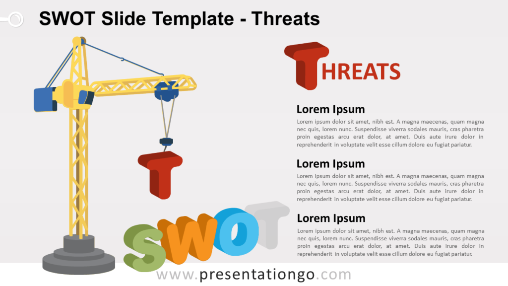 THREATS - SWOT Analysis for PowerPoint and Google Slides