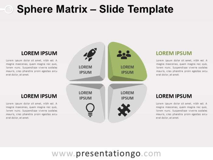 Free Sphere Matrix for PowerPoint - Focus 2