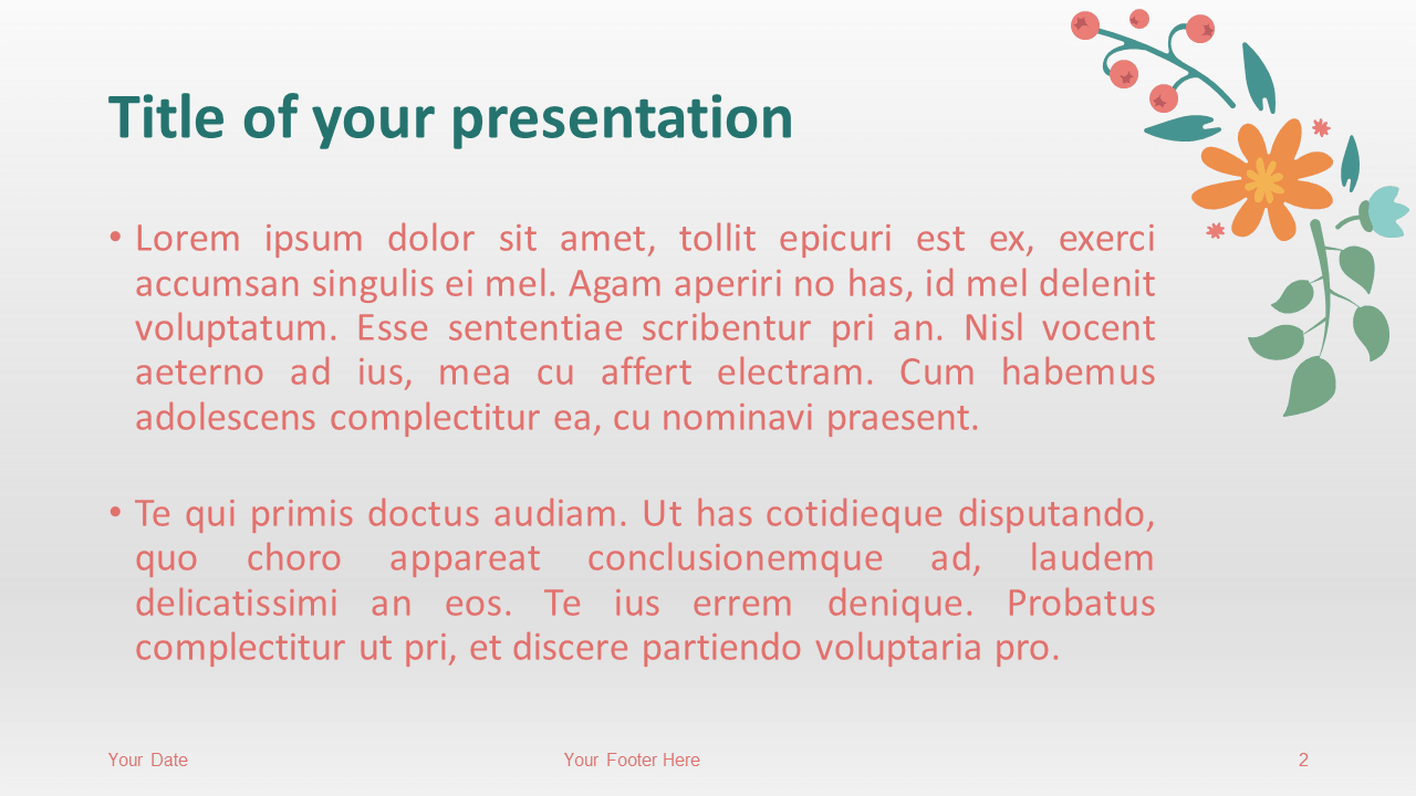 Spring Template for PowerPoint - Slide 2