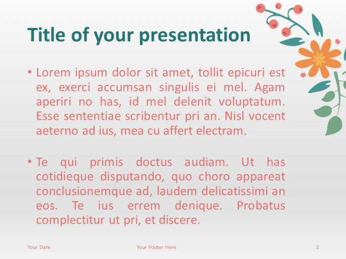 Free Spring Template for PowerPoint - Slide 2