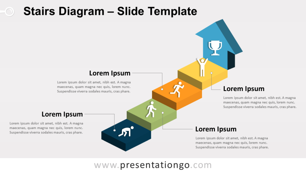 Free Stairs PowerPoint Template