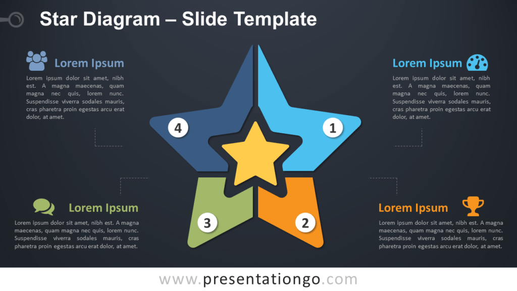 Free Star Diagram for PowerPoint