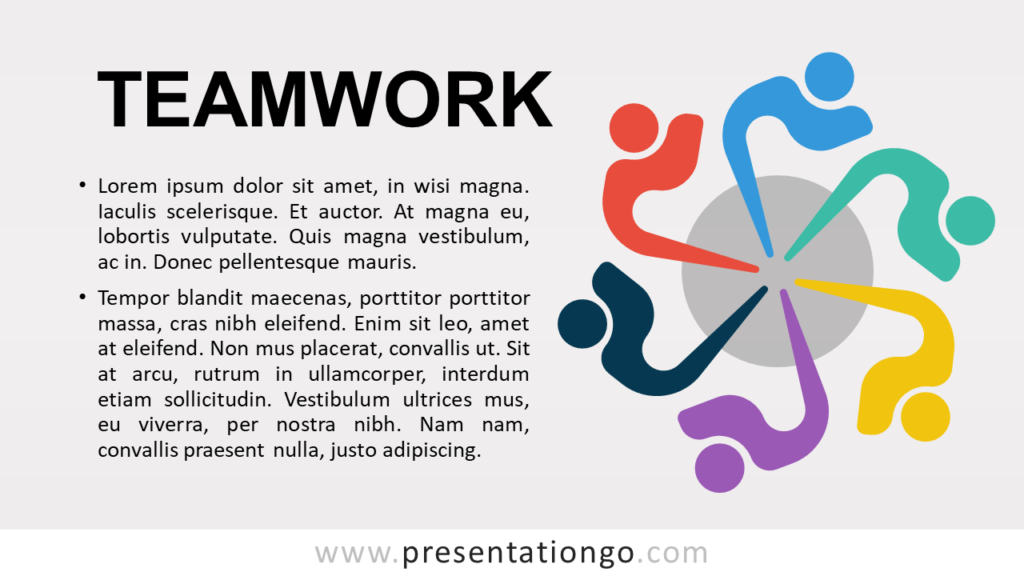 Free Teamwork - Concept for PowerPoint and Google Slides