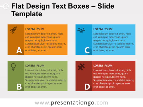 Flat Design Text Boxes - Free PowerPoint Template