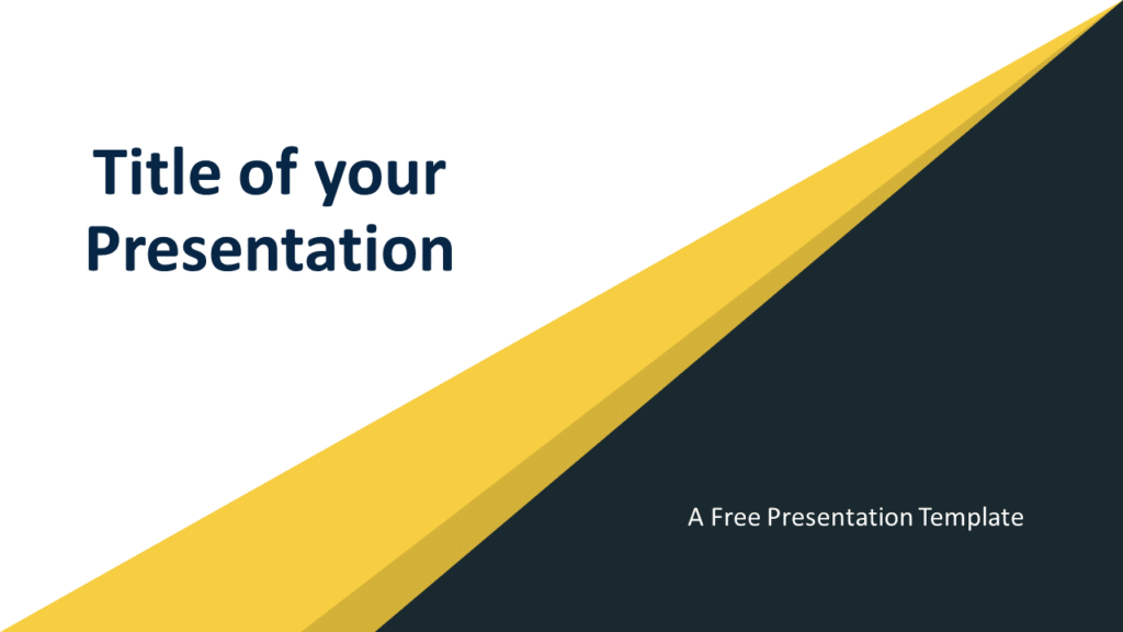 Free Abstract Modern Template for PowerPoint and Google Slides