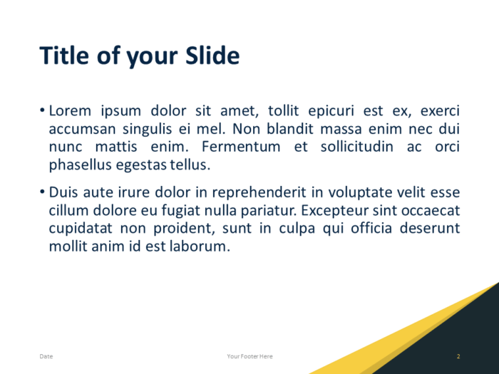 Free Abstract Modern Template for PowerPoint - Slide 2