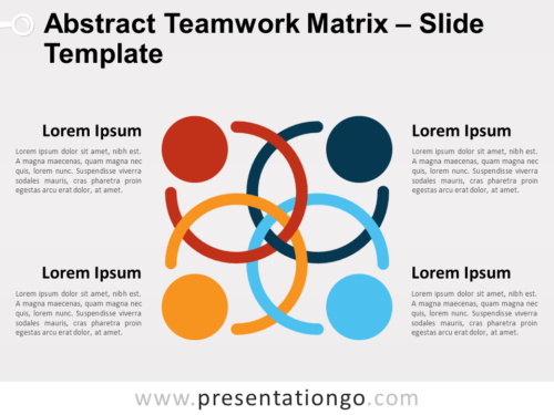 Free Abstract Teamwork Matrix for PowerPoint