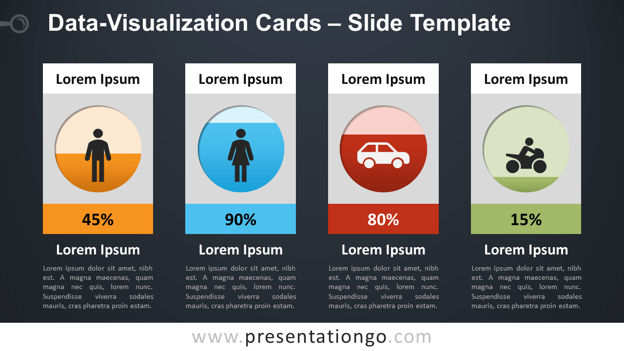 Free Data Visualization Cards PowerPoint and Google Slides Template