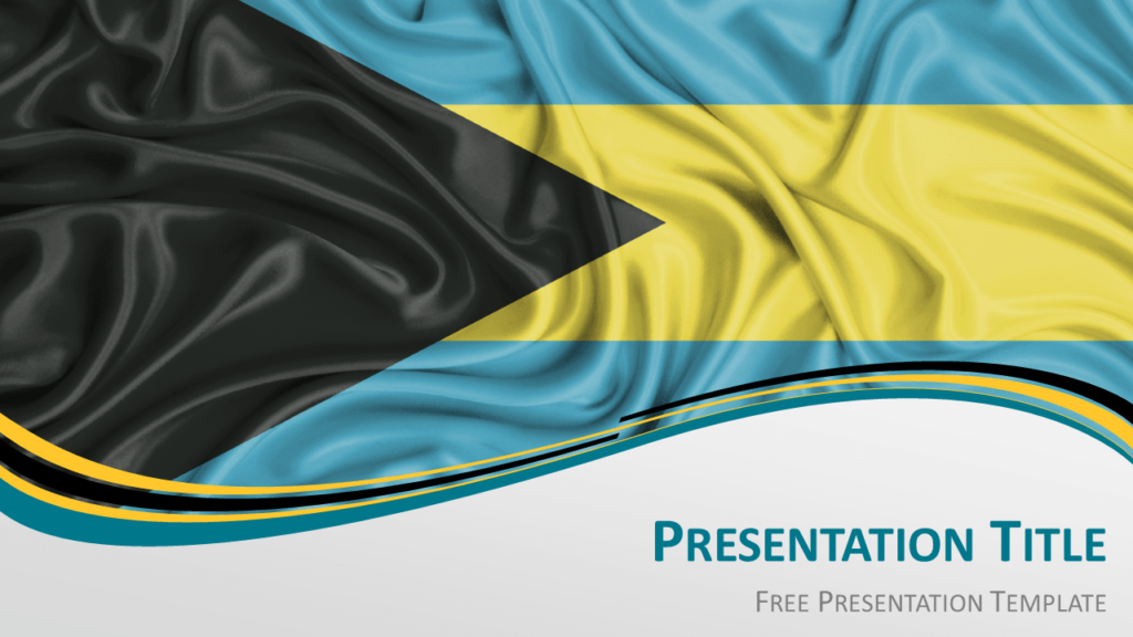 Free Bahamas Flag PowerPoint and Google Slides Template