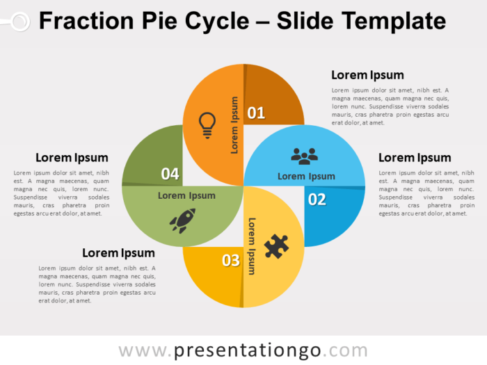 Free Fraction Pie Cycle for PowerPoint