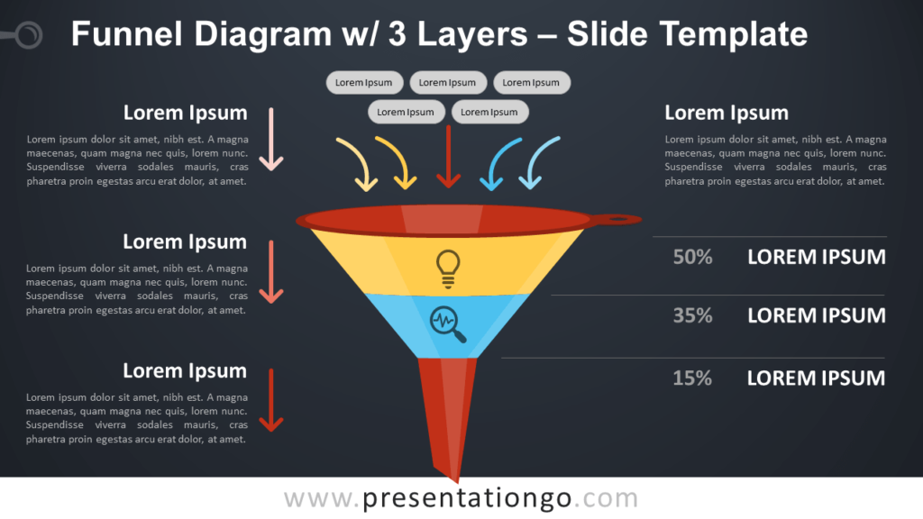 Free Funnel Diagram with 3 Layers PowerPoint Template