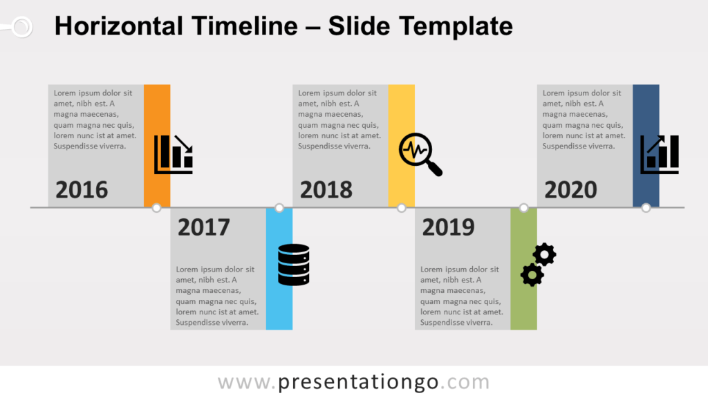 Free Horizontal Timeline for PowerPoint and Google Slides