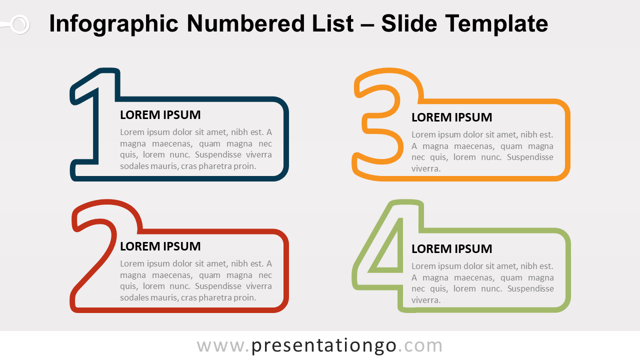 Free Infographic Numbered List for PowerPoint and Google Slides