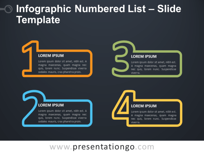 Free Infographic Numbered List PowerPoint Template