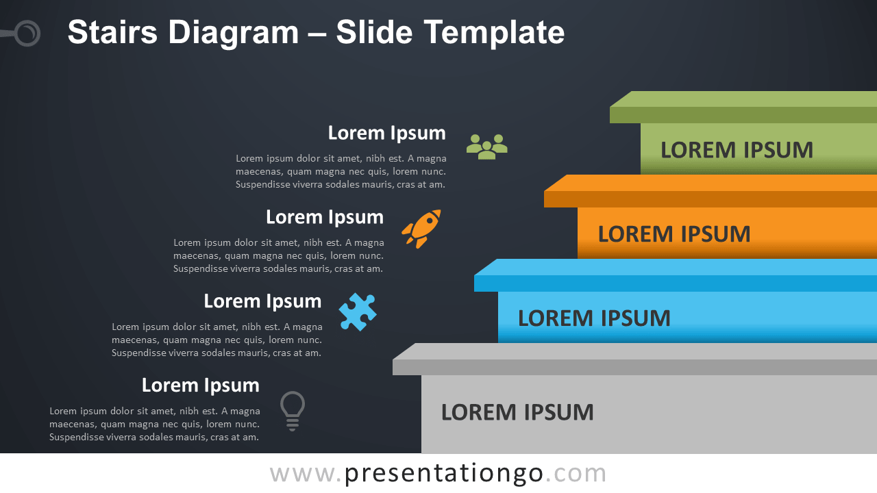 Stairs Diagram - Free PowerPoint and Google Slides Template