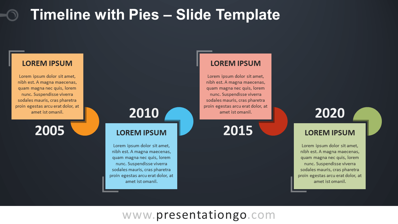 Timeline with Pies - Free PowerPoint and Google Slides Template