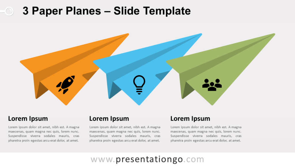 Free 3 Paper Planes for PowerPoint and Google Slides