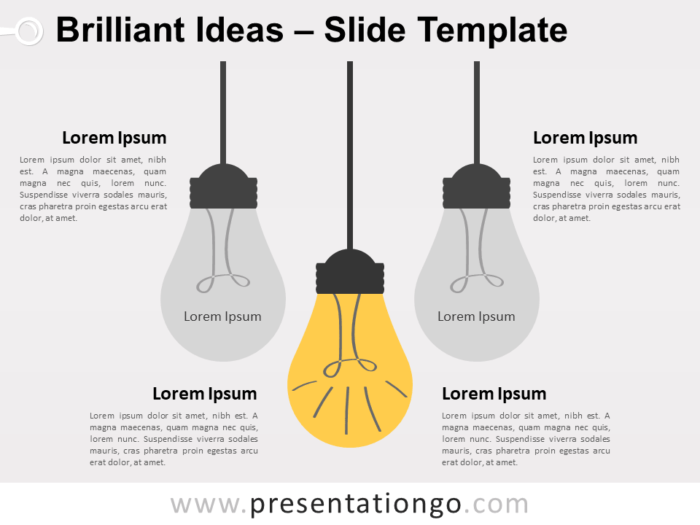Free Brilliant Ideas Infographic for PowerPoint