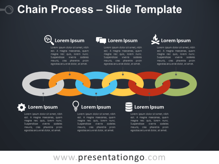 Free Chain Process Diagram for PowerPoint
