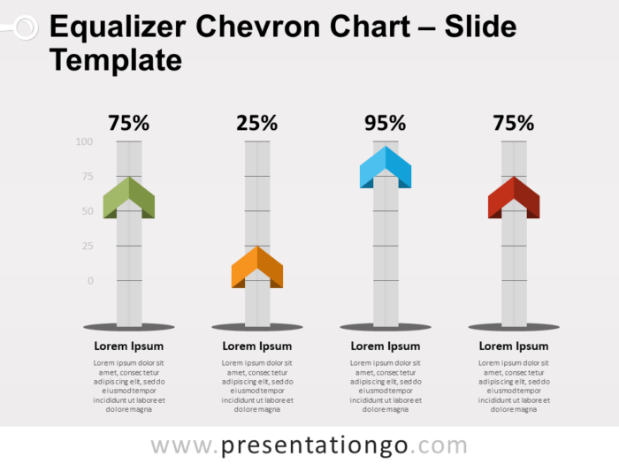 Free Equalizer Chevron Chart for PowerPoint