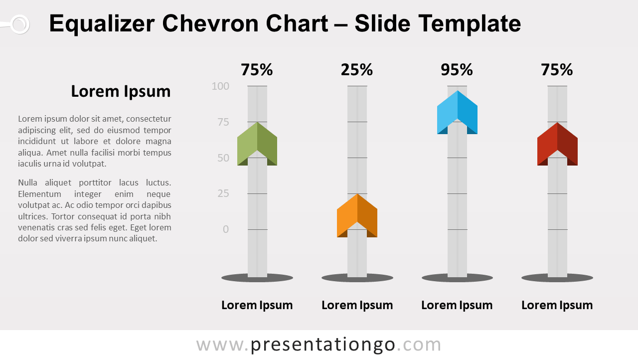 Free Equalizer Chevron Chart for PowerPoint and Google Slides