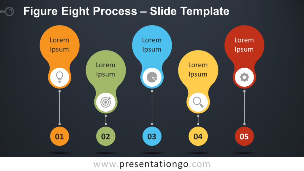 Free Figure-Eight Process Diagram for PowerPoint and Google Slides