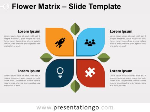 Free Flower Matrix for PowerPoint