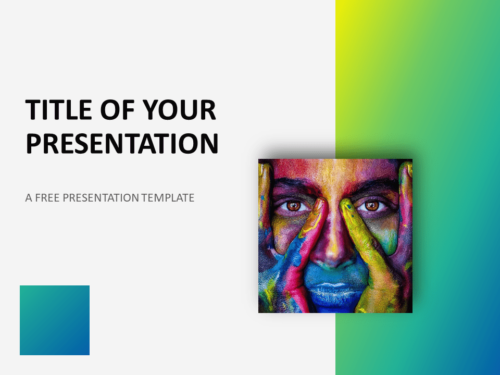 Free Modern Green Gradient Template for PowerPoint